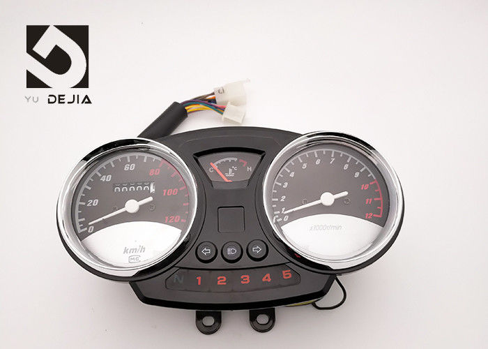 Durable Motorcycle Digital Speedometer With Water Temperature Table Indicator Lights