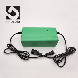 Green Shockproof Electric Bike Charger 220V 50HZ Input , 88% Efficiency